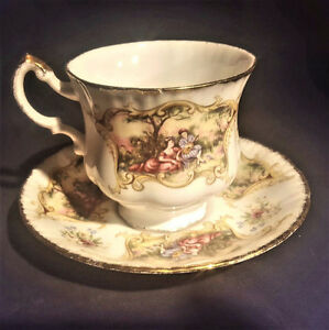 VINTAGE PARAGON CHIPPENDALE FINE BONE CHINA CUP & SAUCER