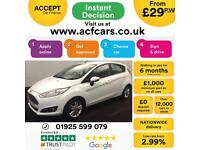 2015 WHITE FORD FIESTA 1.0 ECOBOOST 100 ZETEC 5DR HATCH CAR FINANCE FR £29 PW