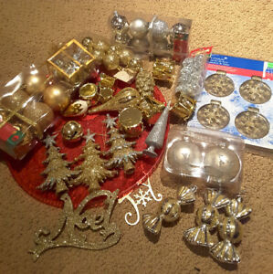 Gold and Silver Christmas Ornaments