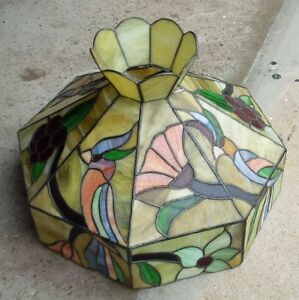 Stained glass lighting shade