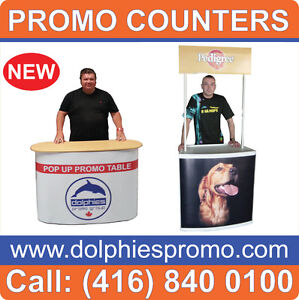 PRINTED Trade Show Promo Table Counter VENDOR Marketing Kiosk