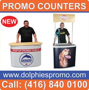 PRINTED Trade Show Promo Table Counter VENDOR Marketing Kiosk