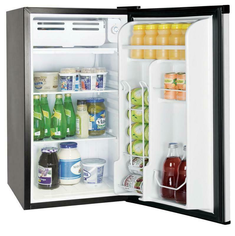 3.2 Cu Ft Stainless Steel Mini Refrigerator Fridge Freezer C