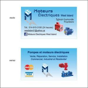 Moteurs Electriques West Island-514-915-3195- Electric motors