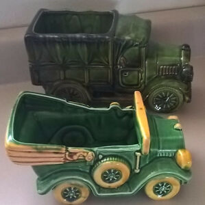 Vintage Green Relpo # 6049 & 6797 Truck Planters