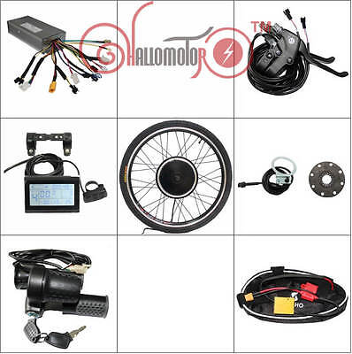 "36v/48v 500w 24"" Front Wheel Ebike Conversion Kit Square Wave Controller LCD3"