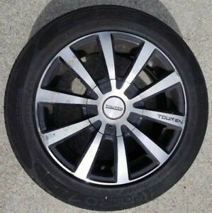 ACTS FAST: 195/55R15: FOUR matching Kumho tires Touren Mag rims