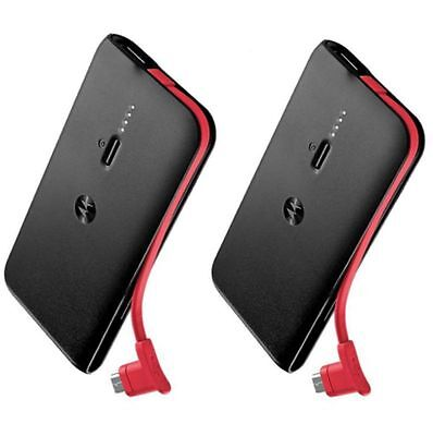 Motorola Uncircumscribed Double Charger Slim battery Power Bank USB P2000 2 Pack 2000