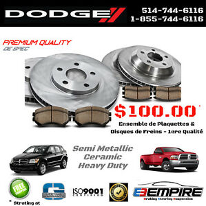 ★ DODGE • STRATUS • Freins et Disques en vente ★ Pads and Rotors