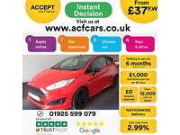 2016 RED FORD FIESTA 1.0 ECOBOOST 140 ST LINE RED EDT 3DR CAR FINANCE FR £37 PW