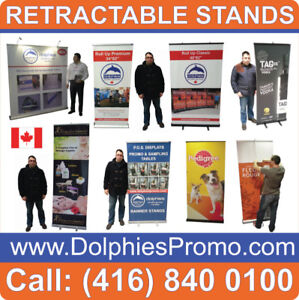 ANY Trade Show Event Retractable Banner Stand Roll Up Displays