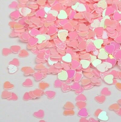 USA Holographic Pink Heart Glitter Solvent Resistant HEARTS Acrylic Gel Nail Art - Heart Glitter