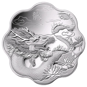 2012 YEAR of the DRAGON  Silver Coin-MINT CONDITION!!!