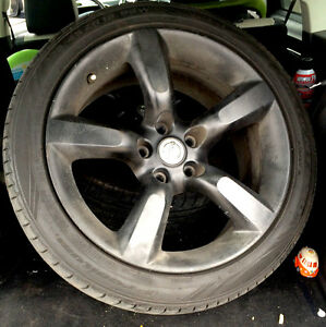 """18"""" staggered 350 Z wheels and summer tires - matte black"""
