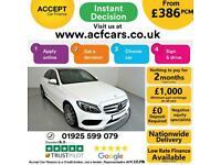 2016 WHITE MERCEDES C250D 2.1 AMG LINE PREMIUM + SALOON CAR FINANCE FR £386 PCM