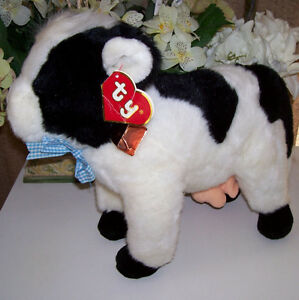 Vintage TY Clover the Cow Plush