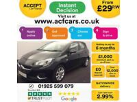 2016 BLACK VAUXHALL CORSA 1.4 SRI 90 PETROL 5DR HATCH CAR FINANCE FR £29 PW