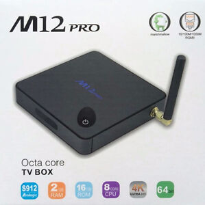 OCTA CORE CPU(8) M12 PRO ANDRIOD BOX ANDROID 6.0 FREE KEYBOARD