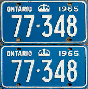YOM Licence Plates For Your Old Auto - Ministry Guaranteed! Peterborough Peterborough Area image 1