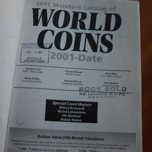 2011 STANDARD CATALOG OF WORLD COINS 2001-DATE (2009) Kitchener / Waterloo Kitchener Area image 2