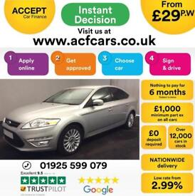 2014 SILVER FORD MONDEO 1.6 TDCI ZETEC BUSINESS EDT DIESEL CAR FINANCE FR £29 PW