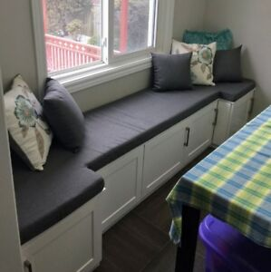 ~ NEW WINDOW AND BENCH SEAT CUSHIONS MADE TO FIT YOUR SPACE ~
