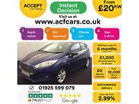 2015 BLUE FORD FIESTA 1.5 TDCI ZETEC 75 DIESEL 5DR HATCH CAR FINANCE FR £20 PW