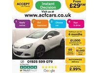 2014 WHITE VAUXHALL ASTRA GTC 1.4 T 140 LIMITED EDITION 3D CAR FINANCE FR £29 PW