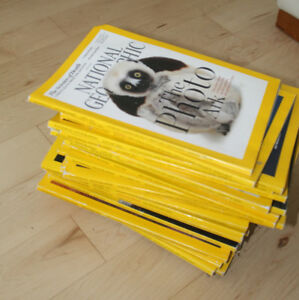 National Geographic magazines form 2013 - 2015
