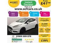 2016 WHITE FORD FIESTA 1.6 ECOBOOST 180 ST-3 3DR HATCH CAR FINANCE FR £41 PW