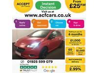 2015 RED VAUXHALL CORSA 1.4 T 100 LIMITED EDITION 3DR HATCH CAR FINANCE FR £25PW