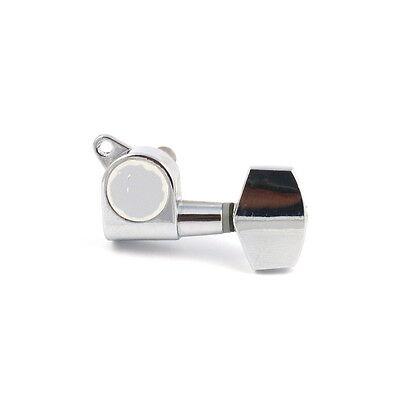 1x Machine Head Tuning Key Tuner Head Peg For Treble Side G/b/e Chrome