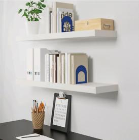 Ikea 4 white shelves