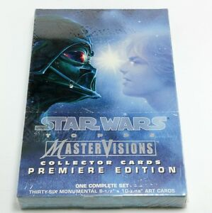 Star Wars TOPPS Mastervisions Collertor Cards Premiere Edition