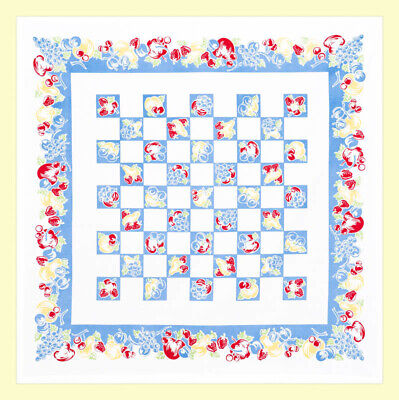 Fanciful Fruit Tablecloth by Red and White Kitchen (Vintage Style-New)