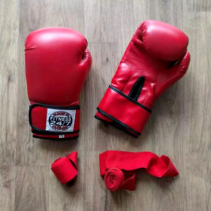 12oz Boxing Gloves and Wraps