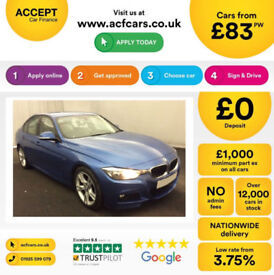 Blue BMW 320d M Sport Leather 2015 FROM £83 PER WEEK!