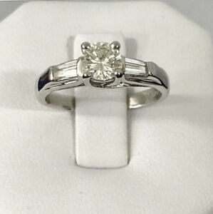 Platinum diamond engagement ring^Certified at $7,000 / Beauty !