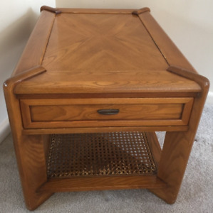 2 Oak End Tables