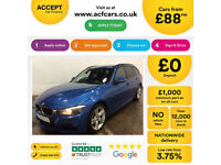 BMW 335d M Sport Estate sat-nav leather Auto 2015 FROM £88 PER WEEK!