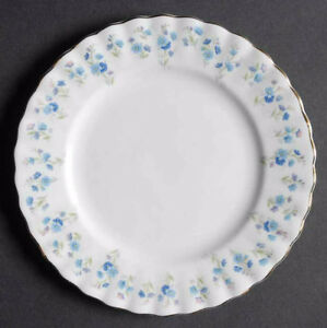 Set Of 8 Bread & Butter Plate Memory Lane by ROYAL ALBERT