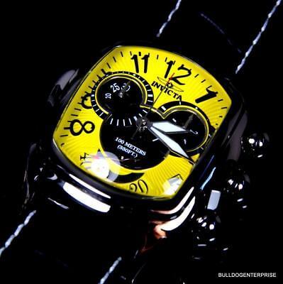 Invicta Dragon Lupah Disney Mickey Chronograph Yellow Swiss Movt LE Watch New