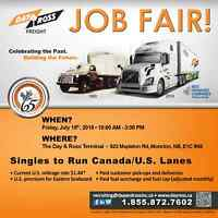 Job Fair Class 1 Owner Operators and Drivers