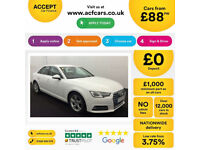 White AUDI A4 SALOON 1.8 2.0 TDI Diesel SPORT S LINE FROM £88 PER WEEK!