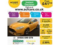2013 YELLOW FORD FOCUS 2.0 T ECOBOOST ST3 PETROL 5DR HATCH CAR FINANCE FR £41 PW
