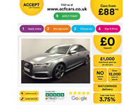 Grey AUDI A6 SALOON 2.0 3.0 TDI Diesel BLACK EDITION FROM £88 PER WEEK!