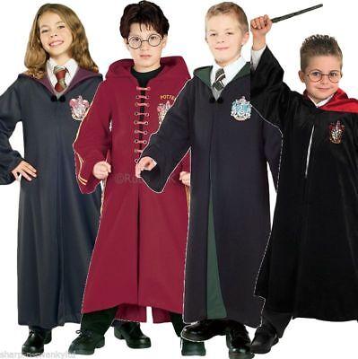 Mädchen Jungen Harry Potter Hermine Deluxe Robe büchertag Kostüm Kleid Outfit