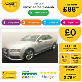 Audi A7 Black Edition FROM £109 PER WEEK!