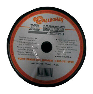 Gallagher 17 Gauge Aluminum 14 Mi. Electric Fence Wire 1320 Ft. Silver