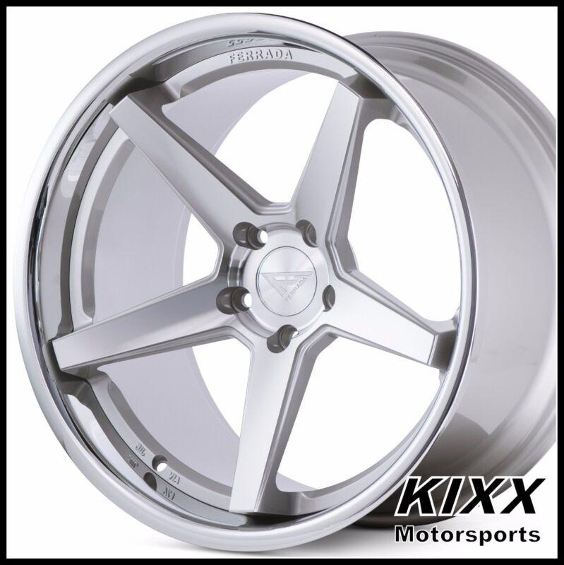 """20"""" Ferrada Fr3 20x9+35 20x10.5+38 Silver Concave Wheels Bmw F25 F26 X3 X4"""